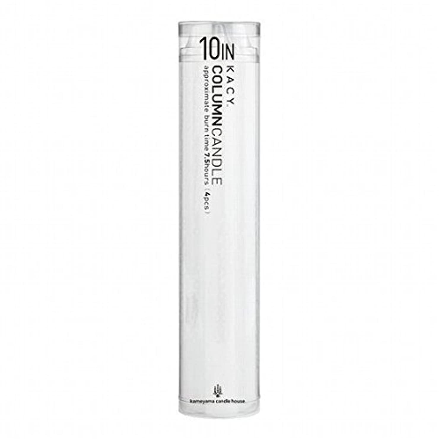 グローバル取り出すそこからkameyama candle(カメヤマキャンドル) 10インチコラムキャンドル4本入り 「 ホワイト 」(A9123100W)