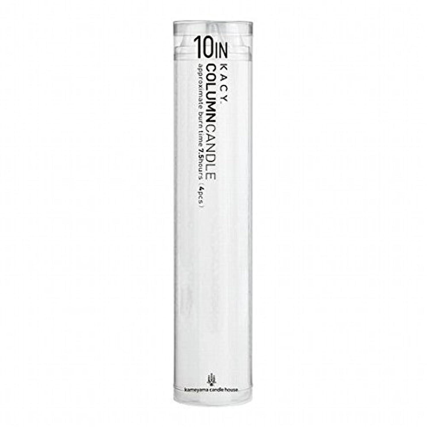 マンモスディンカルビル信号kameyama candle(カメヤマキャンドル) 10インチコラムキャンドル4本入り 「 ホワイト 」(A9123100W)