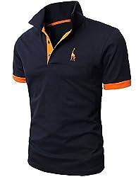 グラストア(Glestore)メンズ 半袖 ポロシャツ スキニー スポーツウェア ゴルフウェア MT1030 多色選択 M-XXL