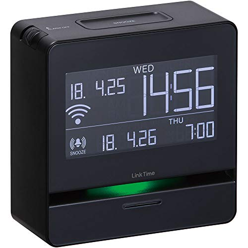 キングジム 時計 スマートアラーム リンクタイム 黒 LT10クロ