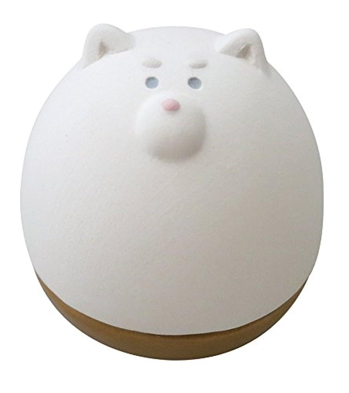送金カイウスくしゃみデコレ(DECOLE) アロマおきあがりこぼし ホワイト 5.0×6.0×h5.6 しば AG-92302