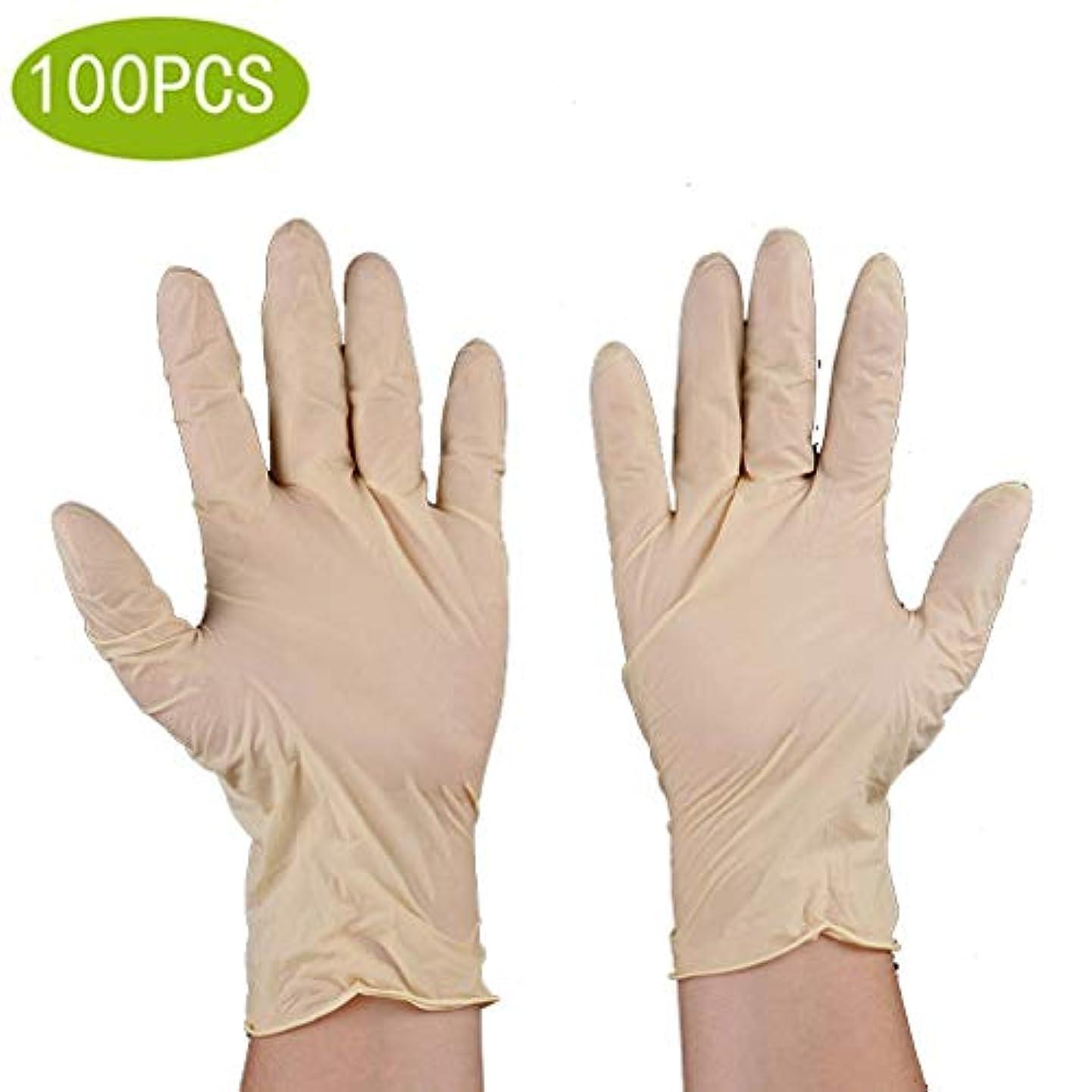鈍い甘やかす自動化使い捨て手袋食品ケータリング手術丁清ゴム労働保護ラテックス肌キッチン厚い試験/食品グレード安全用品、使い捨てハンドグローブディスペンサー[100個] (Size : S)