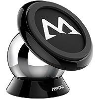 Mpow 車載ホルダー スマホスタンド マグネット式 スマホ タブレット車載ホルダー ダッシュボードに取り付け 360度回転 iPhone XS/XS MAX/XR/8/8 plus/6/6S/Sonyなど多機種対応 【18ヶ月国内保障】 ブラック