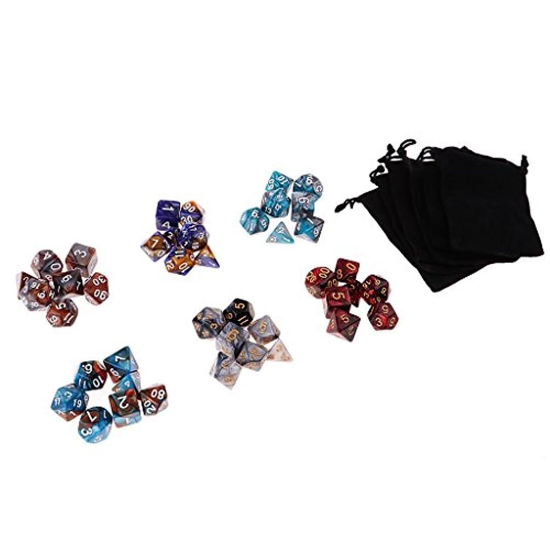 配偶者誕生日行う約42個 アクリル 多面体 ダイス サイコロ 骰子 賽子 DND MTG RPGゲーム用 小道具