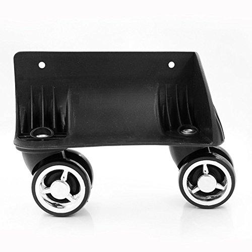 崇明 スーツケースの ホイール  取替え DIY 代用品 交換  キャスター スーツケースキャリーボックスなどの車輪補修用 トラベルバッグラゲッジ修理 W047 (大きい右ホイール(1pcs))