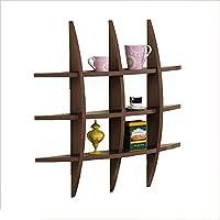木製のパネル収納ラック、壁掛けの仕切りボード (色 : Black walnut)