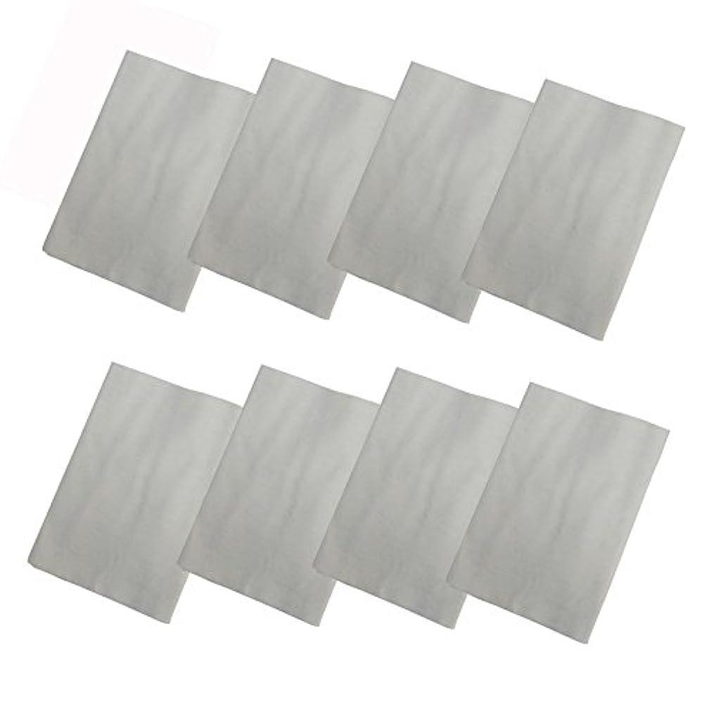 柱染色ホールコットンフランネル8枚組(ヒマシ油用) 無添加 無漂白 平織 両面起毛フランネル生成