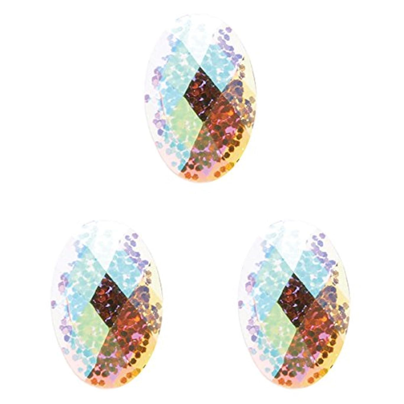 害虫分泌する有望<エトゥベラ>ブリリアントストーン オーバル4×6mm(各30個) ジャンパン(4x6mm)