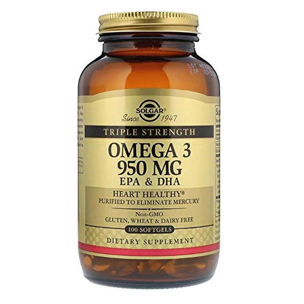 損傷電子面白いSolgar オメガ 3 EPA DHA トリプルストレングス 950mg 100ソフトジェル 【アメリカ直送】