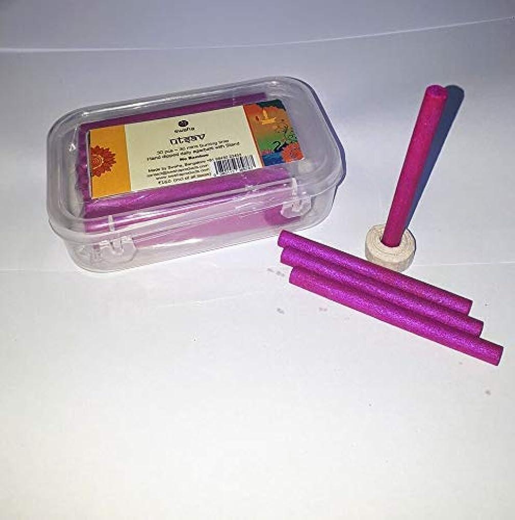 と組む矢印混乱させるSwaha Utsav Cylindrical Incense Sticks (7.5 cm x 1 cm x 1 cm, Pink, Set of 30)