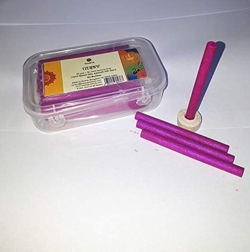 コーラス説得多様性Swaha Utsav Cylindrical Incense Sticks (7.5 cm x 1 cm x 1 cm, Pink, Set of 30)