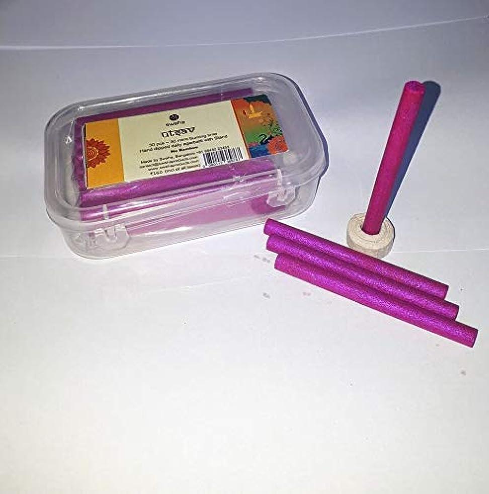 億コード補償Swaha Utsav Cylindrical Incense Sticks (7.5 cm x 1 cm x 1 cm, Pink, Set of 30)