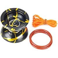 New Professional Yo-Yo Toys Style Magic YoYo N11 Black With Golden Alloy Aluminum by Pinkcoo by Pinkcoo