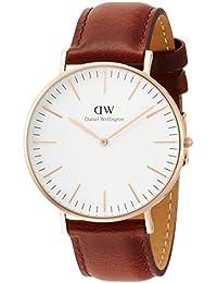 [ダニエルウェリントン]Daniel Wellington 腕時計 Classic St Mawes ホワイト文字盤 革ベルト 0106DW メンズ 【並行輸入品】