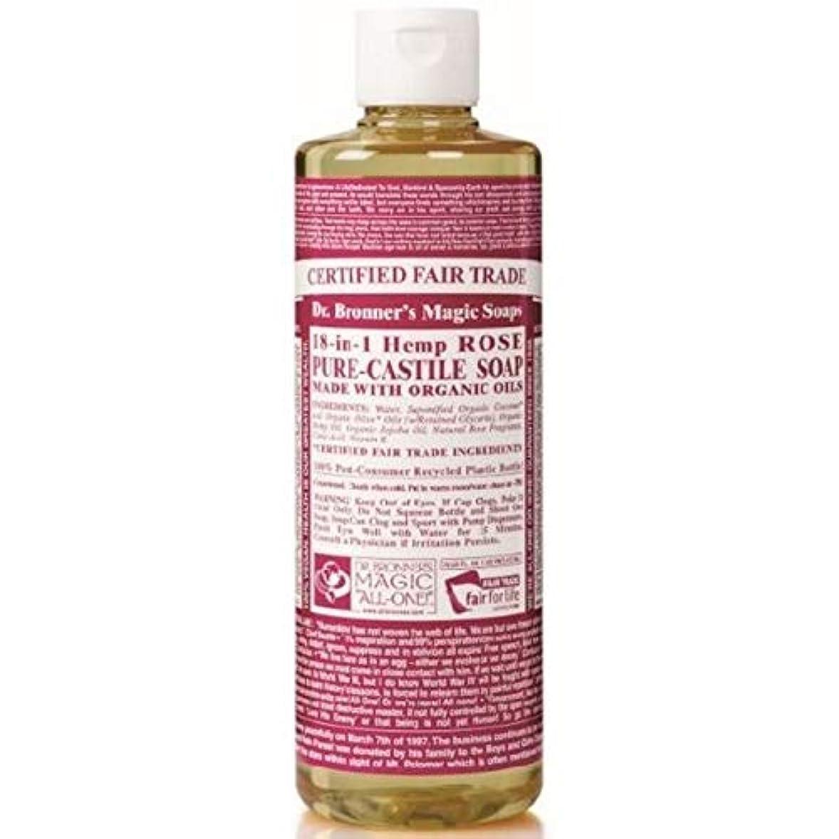 創傷ビザ仕様[Dr Bronner] Dr。ブロナーズ有機バラカスティーリャ液体石鹸237ミリリットル - Dr. Bronner's Organic Rose Castile Liquid Soap 237ml [並行輸入品]