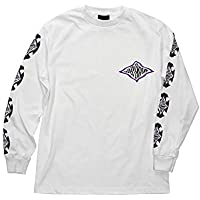 Independent White Evan Smith Warped Cross Long Sleeved T-Shirt (X-Large, White)