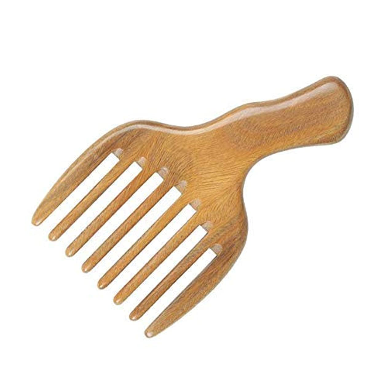 右行くタヒチ1 Pack Sandalwood Wide Tooth Comb Hair Pick Wide Tooth Hair Comb Hair Beard Pick Comb Wooden Hair Comb Afro Pick...