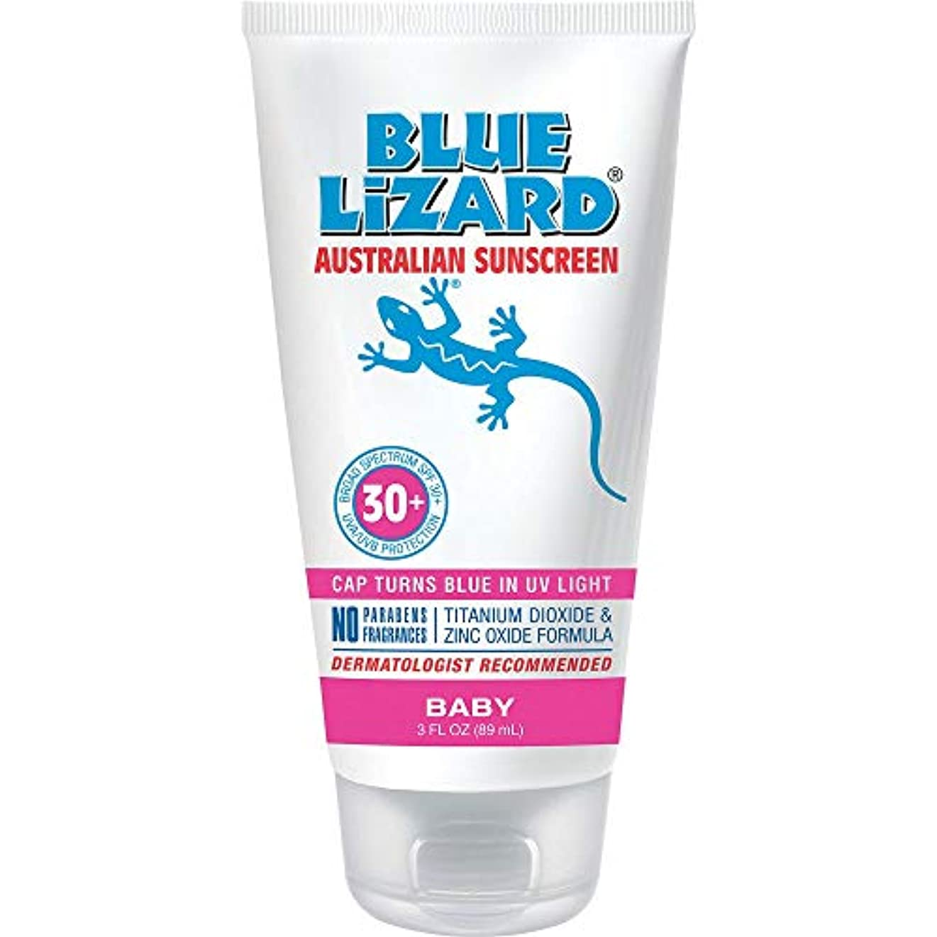 ラフ干渉黙認するBlue Lizard Australian Sunscreen 、赤ちゃん、チューブあたり3オンス(2パック)