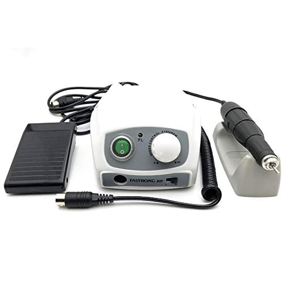アンテナ解決する焦げ電気マニキュアドリルセット40000RPMコントロールボックス210 102 Lマニキュアデバイス用マイクロモーターハンドピース