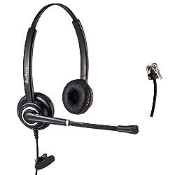 電話ヘッドセット両耳コールセンターヘッドセット ノイズキャンセリングのマイク付き 販売や保険や病院や通信事業者など電話機対応業務用ヘッドセット
