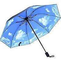 Ukerdo Creative Purple Flower Sunscreen Rain Umbrella Folding Gift Portable Outdoor Umbrellas - Inside Printing