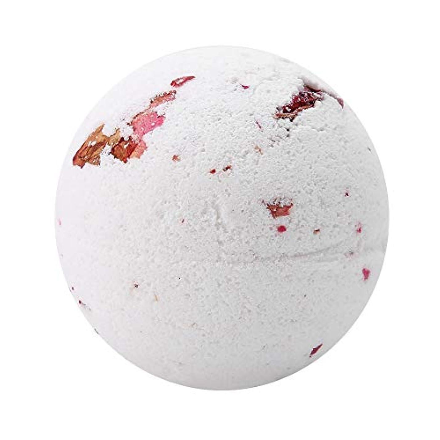 入浴剤 100%天然エッセンシャルオイル&ドライフラワー、アロマテラピーリラクゼーション乾燥肌、キューティクルの柔らかさ 泡風呂 ガールフレンドのアイデアギフト 女性 母親(Milk Rose)