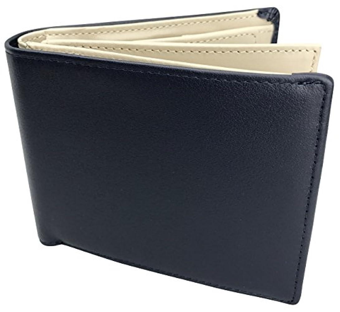 キャンパスいらいらさせるリア王[フロックス] 財布 二つ折り 二つ折り財布 本革 革 クリアホルダー付 ボックス型小銭入れ カード 大容量 ブランド 人気 メンズ レディース