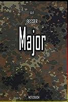 Gut - Besser - Major Notizbuch: Perfekt fuer Soldaten mit dem Dienstgrad: Gut - Besser - Major Notizbuch. 120 freie Seiten fuer deine Notizen. Eignet sich als Geschenk, Notizbuch oder als Abschieds oder Abgaengergeschenk.