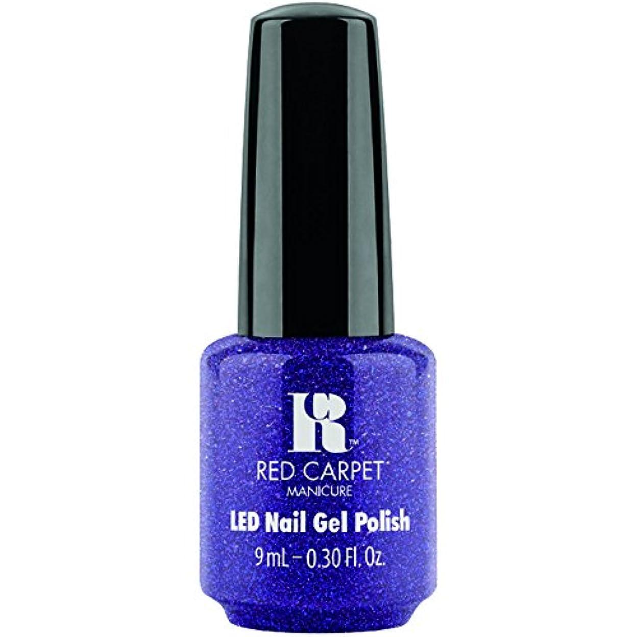 コンサートシチリアペフRed Carpet Manicure - LED Nail Gel Polish - Throw Some Glitter On It - 0.3oz / 9ml