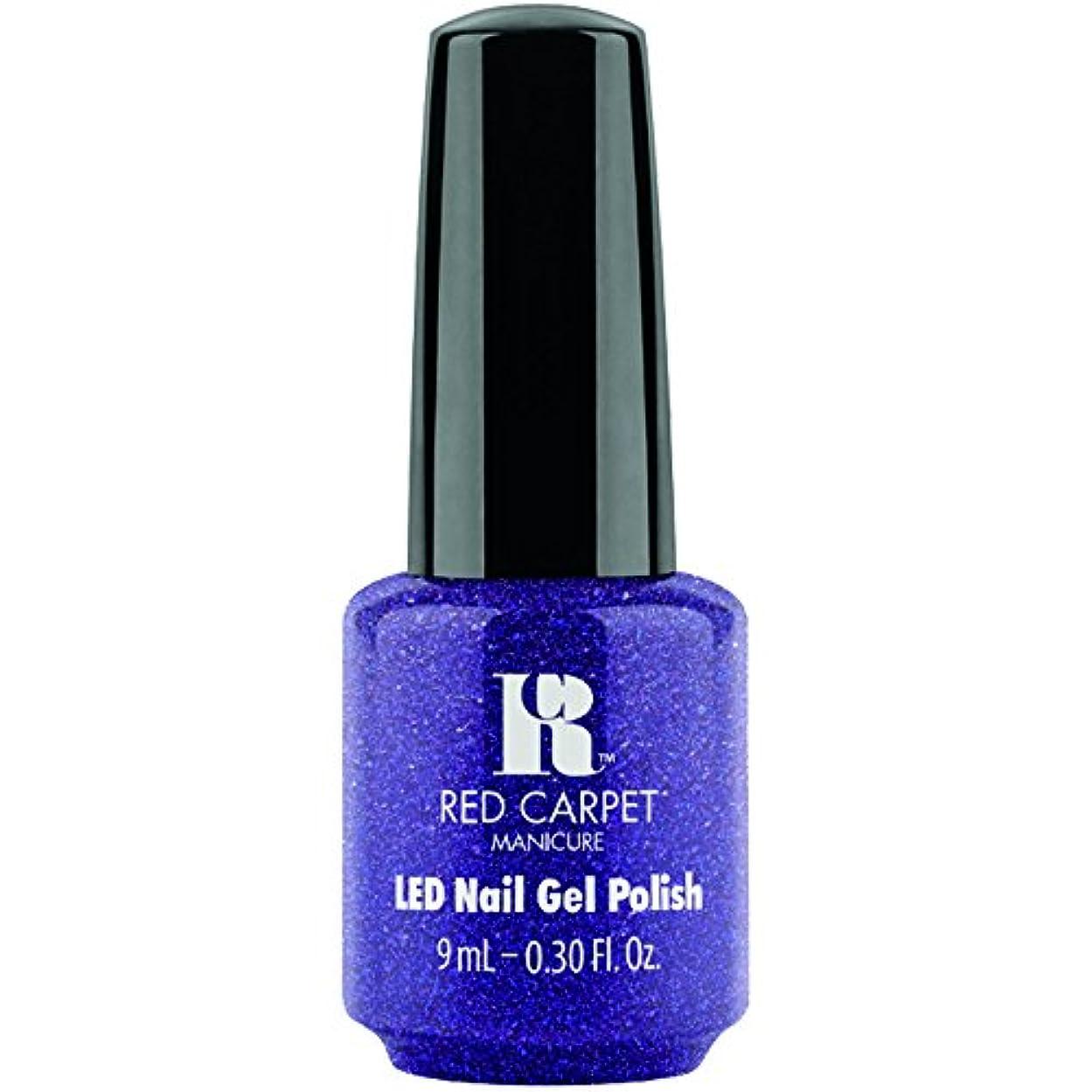 違反扇動するびっくりするRed Carpet Manicure - LED Nail Gel Polish - Throw Some Glitter On It - 0.3oz / 9ml