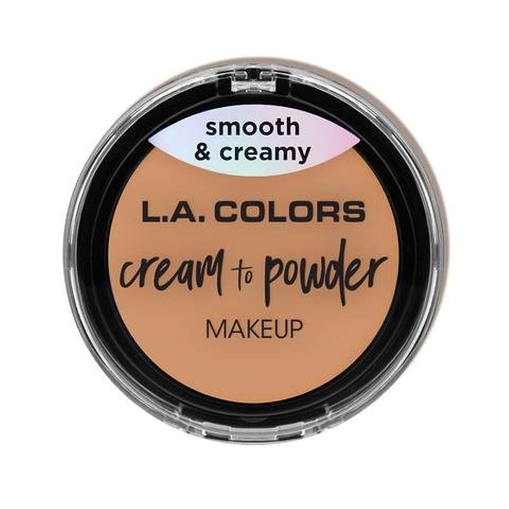 協力する有効ラインナップ(3 Pack) L.A. COLORS Cream To Powder Foundation - Natural (並行輸入品)