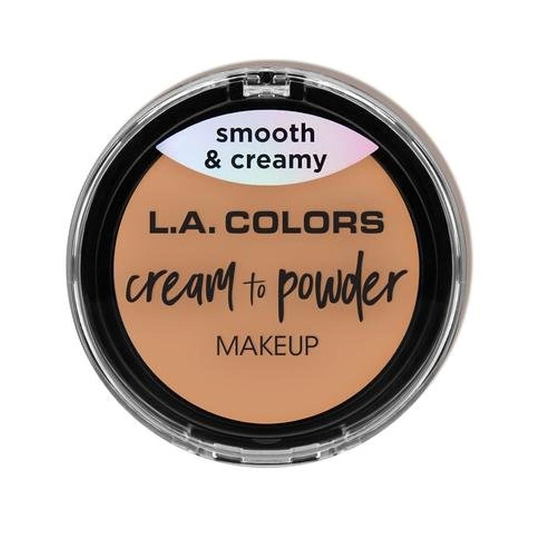 領域光沢のある物思いにふける(3 Pack) L.A. COLORS Cream To Powder Foundation - Natural (並行輸入品)