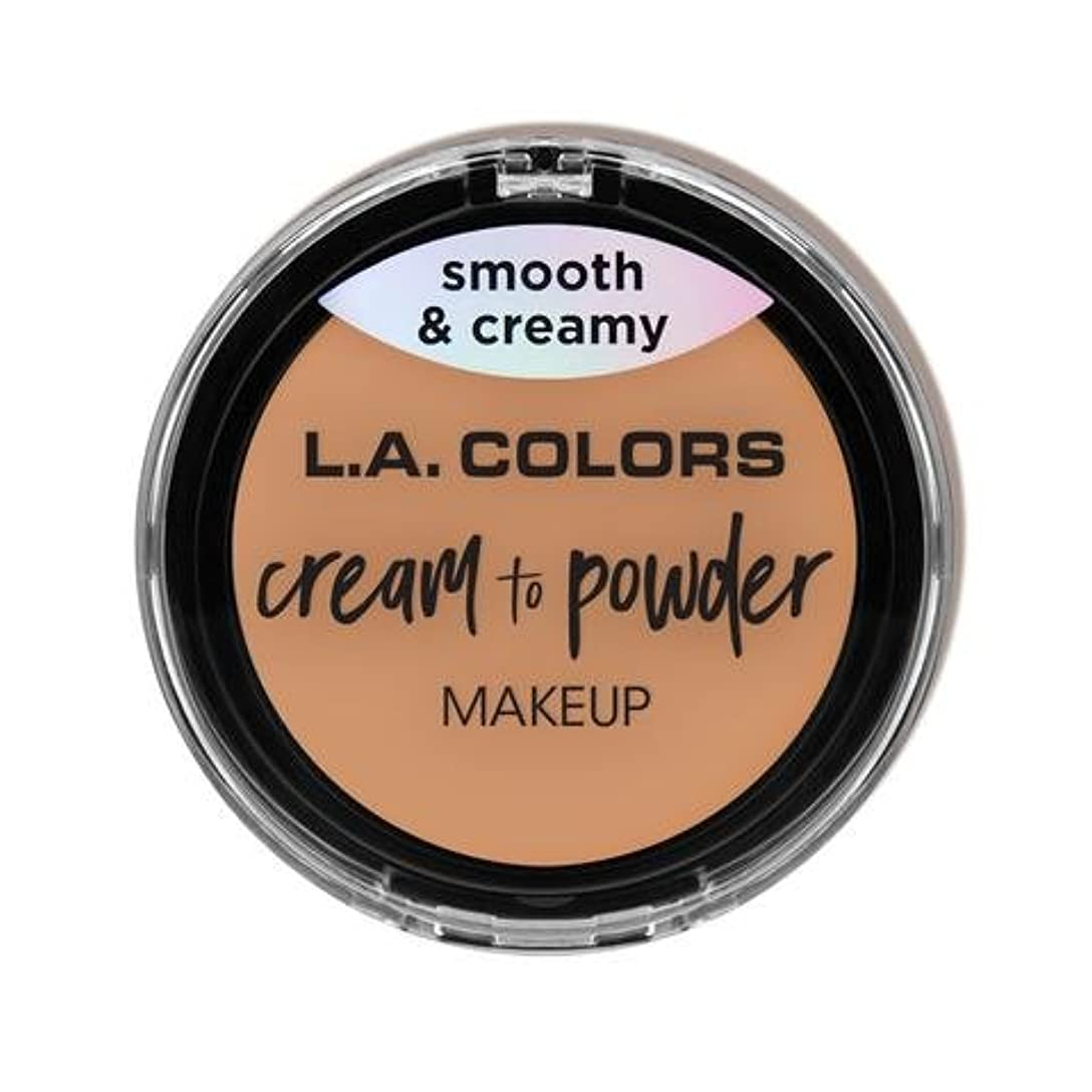 スポーツマンループアパル(6 Pack) L.A. COLORS Cream To Powder Foundation - Natural (並行輸入品)