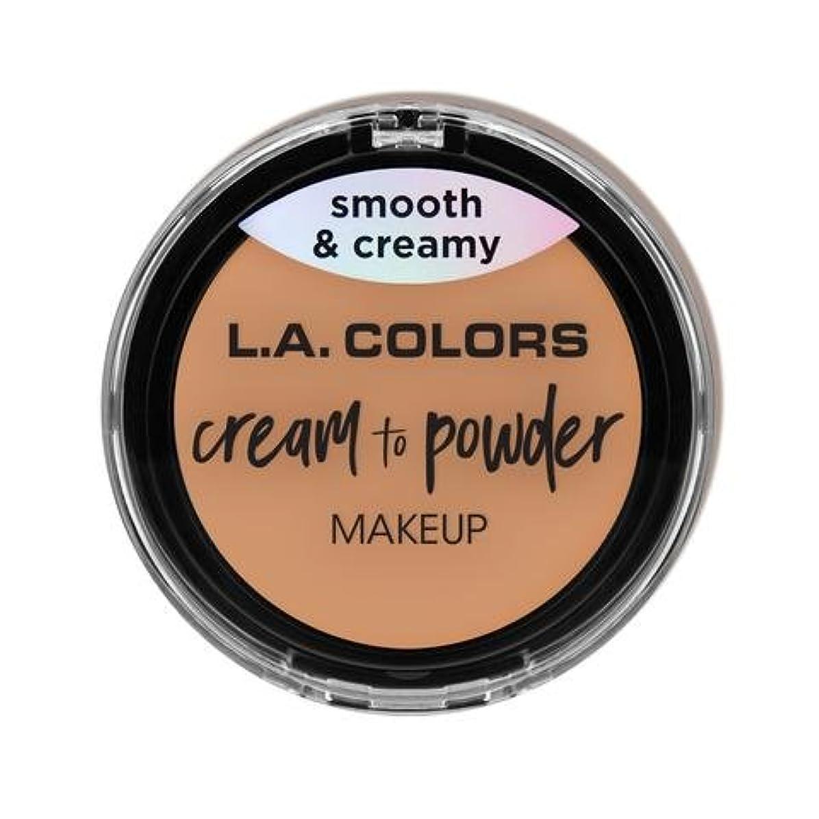 困難グリップる(6 Pack) L.A. COLORS Cream To Powder Foundation - Natural (並行輸入品)