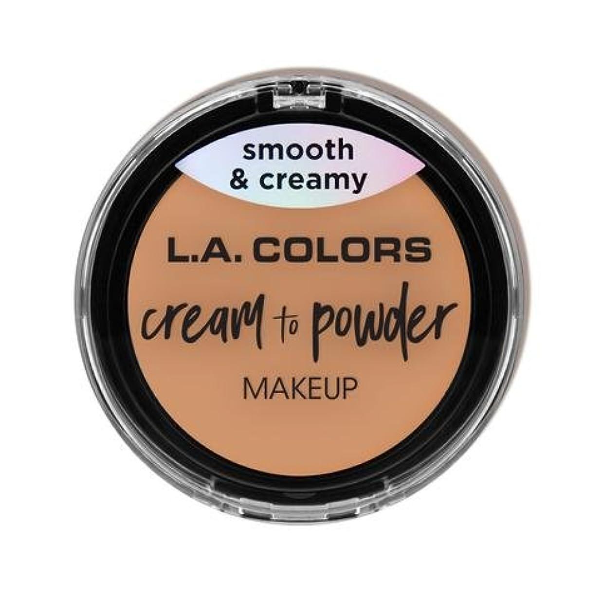 スーパーマーケット活気づくインデックス(3 Pack) L.A. COLORS Cream To Powder Foundation - Natural (並行輸入品)