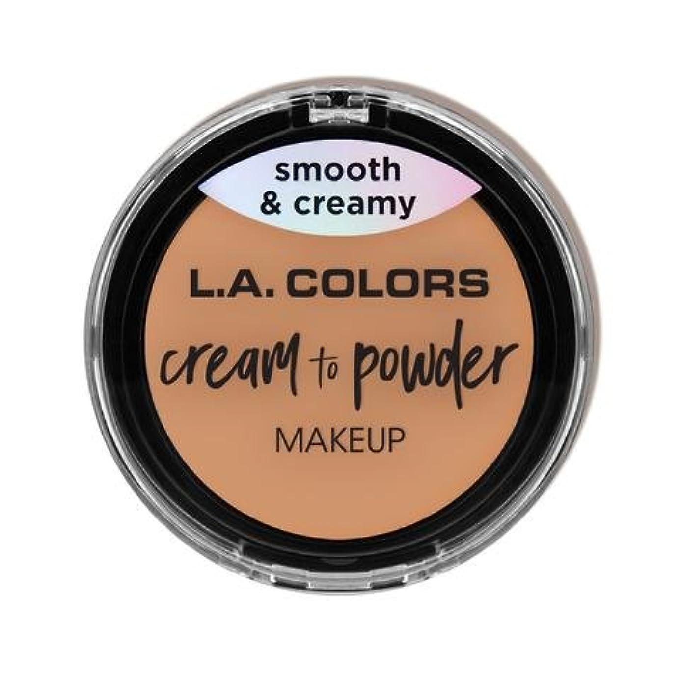 ジャズ駅ゆるく(3 Pack) L.A. COLORS Cream To Powder Foundation - Natural (並行輸入品)