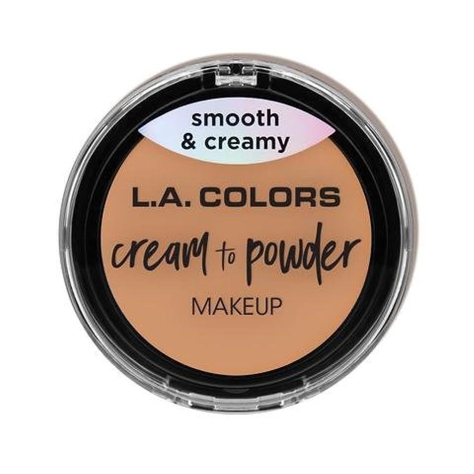 協同電報ブラウズ(3 Pack) L.A. COLORS Cream To Powder Foundation - Natural (並行輸入品)
