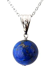 One&Only Jewellery 天然無着色 ラピスラズリ 12mm 一粒 ネックレス ペンダント K18GP 天然石 パワーストーン 12月誕生石 Lapis Lazuli