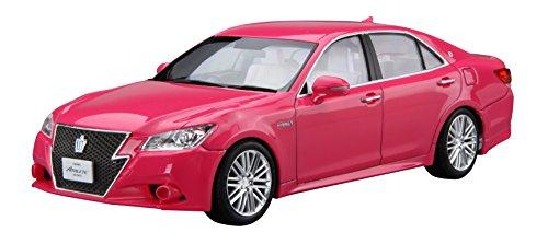 青島文化教材社 1/24 プリペイントモデルシリーズ SP トヨタ AWS210 クラウン アスリートG リボーンピンク 2013 モモタロウ 塗装済みプラモデル