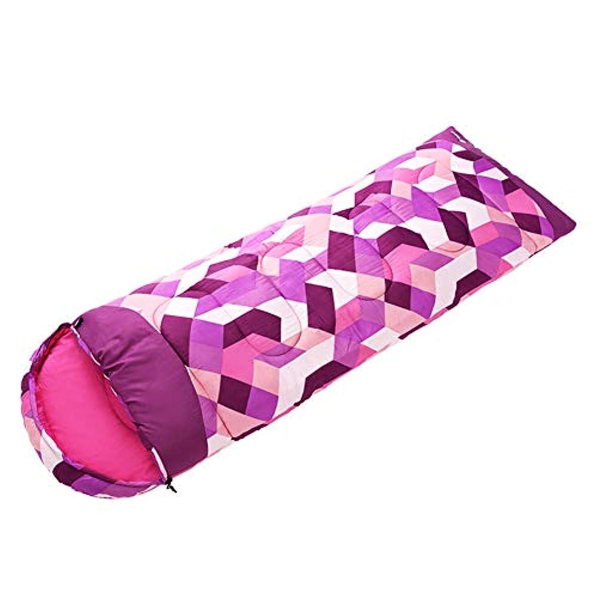 フィラデルフィアプロフィールハイジャック寝袋, 封筒冬ポータブル睡眠袋軽量防水通気性スリーピングパッド大人キャンプ旅行屋外活動睡眠袋,Pink,1.6kg