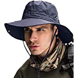 (京都 おかげさまで) 紫外線対策 uvカット サファリハット つば広 日よけ帽子 あご紐付き 男女兼用