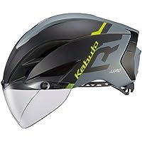 OGK KABUTO(オージーケーカブト) ヘルメット AERO-R1 マットブラックグレー L/XL (頭囲:59cm-61cm)