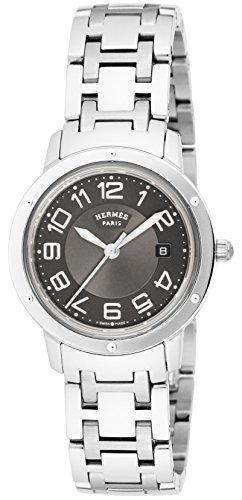 [エルメス]HERMES 腕時計 クリッパー グレー文字盤 ...