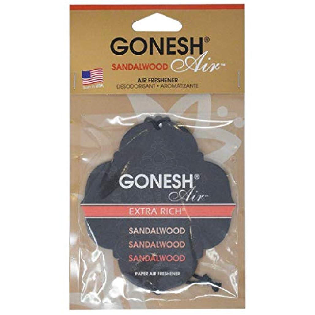 ゆるい添加落とし穴GONESH ペーパーエアフレッシュナー サンダルウッド