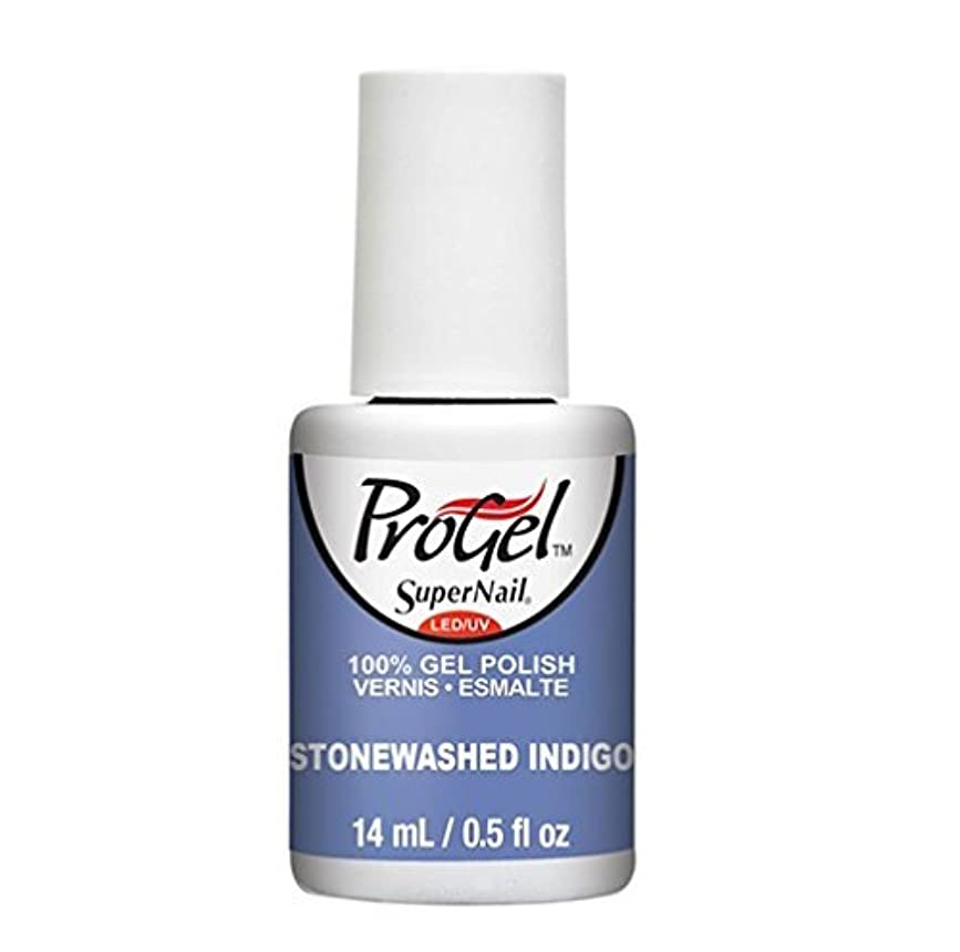 故意に権利を与える和らげるSuperNail ProGel Gel Polish - Stonewashed Indigo - 0.5oz / 14ml