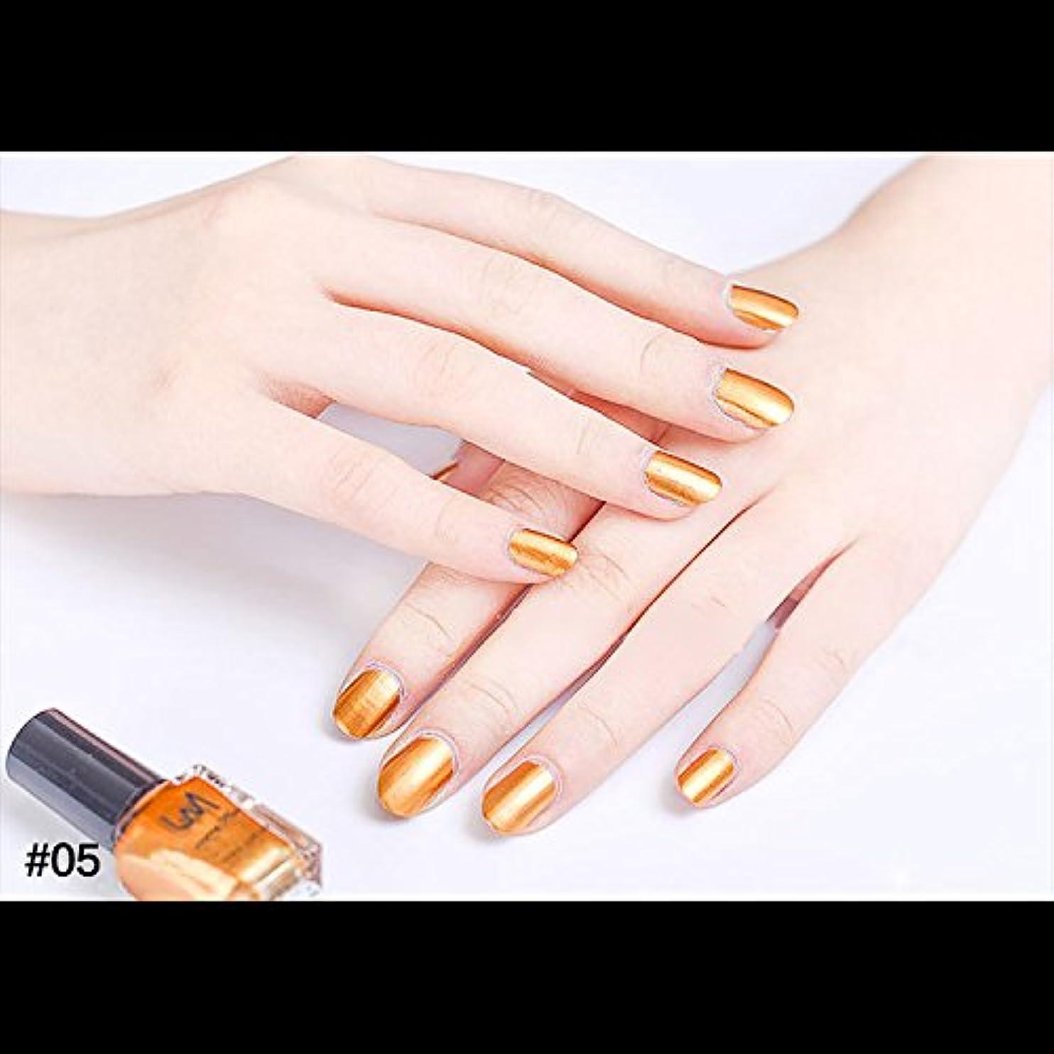 着飾るミニチュア調子hjuns-Wu マニキュア パール感 1ボトル 6ml ネイルポリッシュ(金色)