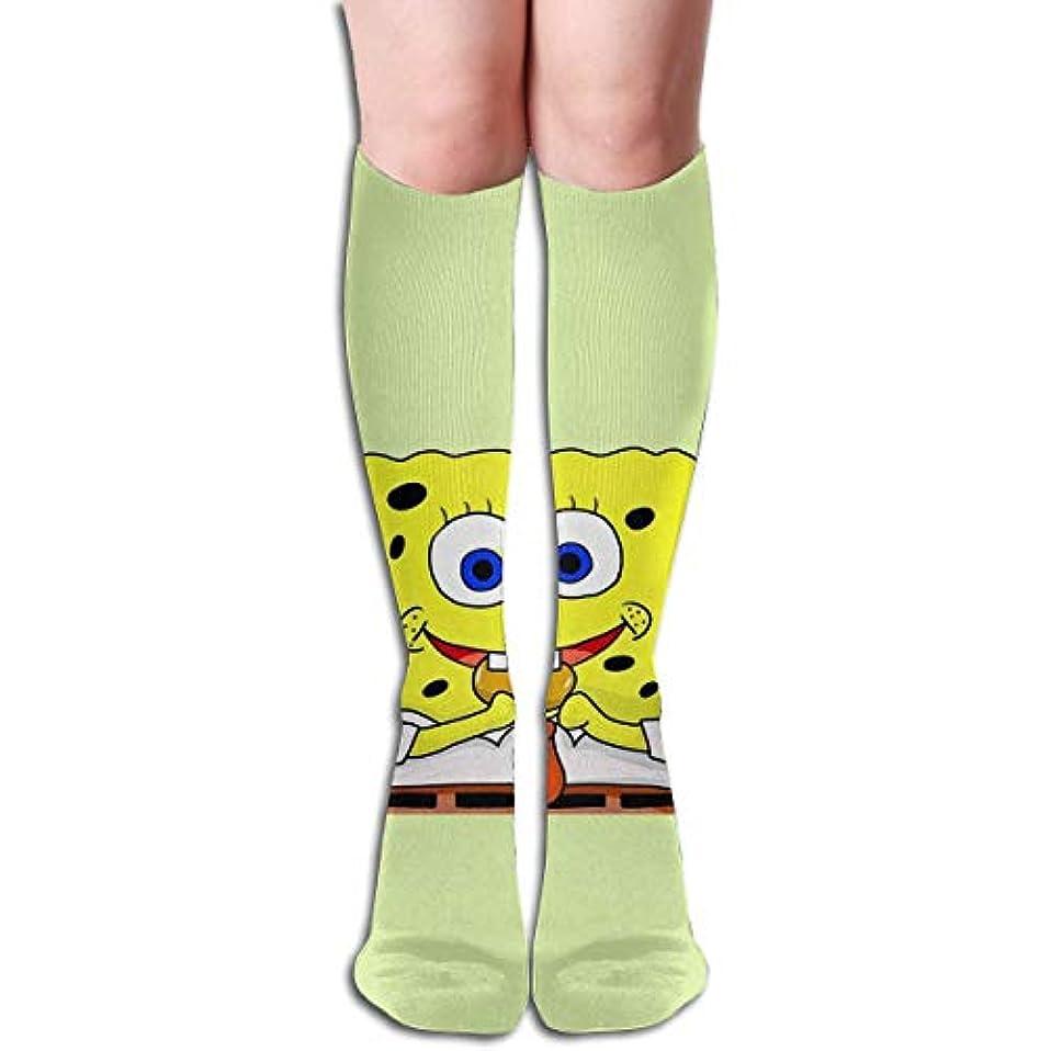 ランチ関連するどちらかqrriyスポンジボブチューブストッキングレディース冬暖かい膝ハイソックスブーツ靴下