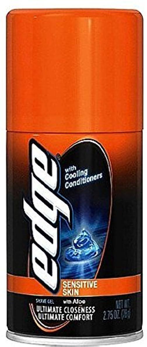 忙しい引き渡す従事するEdge Shave Gel Sensitive Skin with Aloe 2.75 oz (Pack of 3) [並行輸入品]