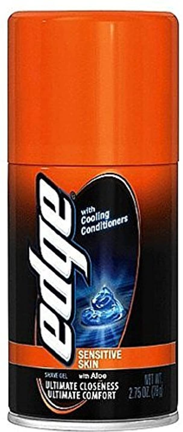 ビルダー誰も合成Edge Shave Gel Sensitive Skin with Aloe 2.75 oz (Pack of 3) [並行輸入品]