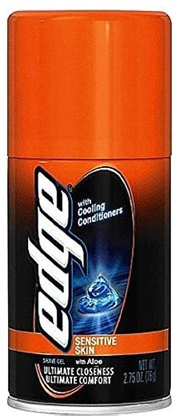 かかわらずボーカル刈り取るEdge Shave Gel Sensitive Skin with Aloe 2.75 oz (Pack of 3) [並行輸入品]